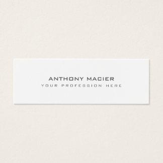 Cartão De Visitas Mini mini pro mínimo branco liso claro
