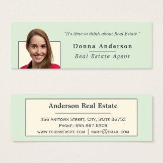Cartão De Visitas Mini Modelo mínimo da foto dos bens imobiliários do