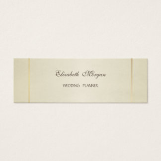 Cartão De Visitas Mini Moderno à moda simples elegante