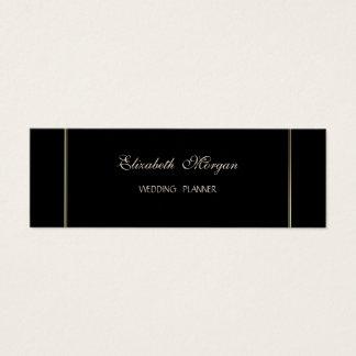 Cartão De Visitas Mini Moderno à moda simples elegante, preto