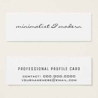 Cartão De Visitas Mini moderno & minimalista