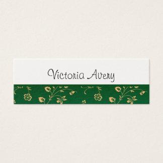 Cartão De Visitas Mini Moderno minimalista do design floral personalizado
