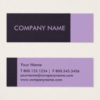 Cartão De Visitas Mini Moderno roxo da beringela da urze