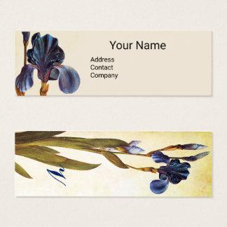 Cartão De Visitas Mini Monograma AZUL ELEGANTE da ÍRIS