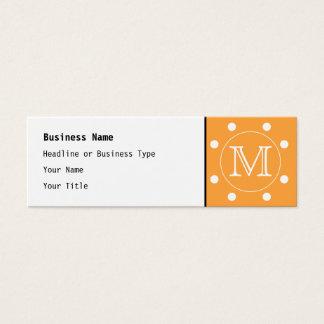 Cartão De Visitas Mini Monograma feito sob encomenda. Ponto de polca