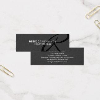 Cartão De Visitas Mini Monograma moderno e elegante