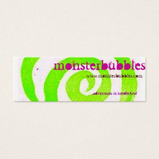 Cartão De Visitas Mini monsterbubbles