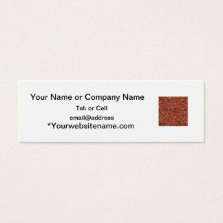 Cartão De Visitas Mini mulch detalhado do cedro vermelho para o