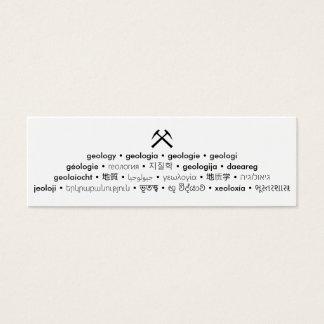 Cartão De Visitas Mini Multi Language Geology Small Card
