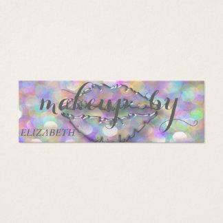 Cartão De Visitas Mini Na moda moderno, maquilhador, Bokeh, lábios