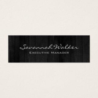 Cartão De Visitas Mini Na moda moderno profissional do design de madeira