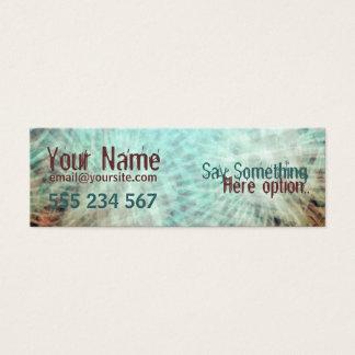 Cartão De Visitas Mini negócio do perfil do electrozArt #002