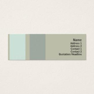 Cartão De Visitas Mini Neutralidade - magro