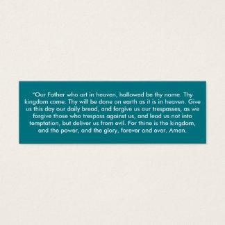 """Cartão De Visitas Mini """"Notas pequenas de Oração do senhor"""""""