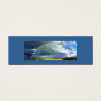Cartão De Visitas Mini O arco-íris bonito da natureza