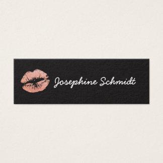 Cartão De Visitas Mini O beijo na moda simples do Cosmetologist compo o