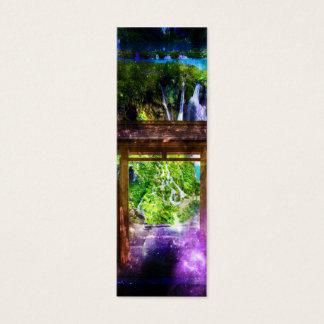 Cartão De Visitas Mini O caminho do universo do arco-íris ao paraíso