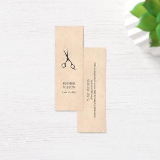 Cartão De Visitas Mini O cinza chique elegante da textura Scissors o