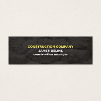 Cartão De Visitas Mini O cinza simples moderno apedreja a construção