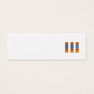 Cartão De Visitas Mini O marcador de madeira da milha assina retro