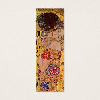Cartão De Visitas Mini O marcador do vintage do beijo por Gustavo Klimt