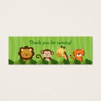 Cartão De Visitas Mini O saco animal de Goodie da selva do safari