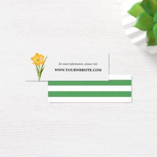 Cartão De Visitas Mini O Web site na moda do AÇAFRÃO do AMARELO da flor