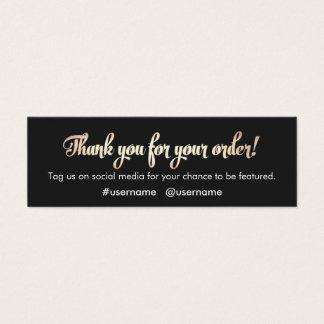 Cartão De Visitas Mini Obrigado da apreciação do cliente você para sua