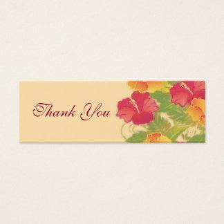 Cartão De Visitas Mini obrigado do ~ do jardim do hibiscus você Tag do