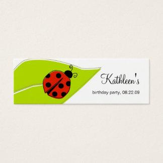 Cartão De Visitas Mini Obrigado que do joaninha você etiqueta