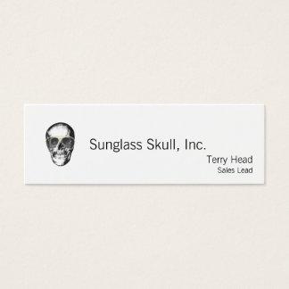 Cartão De Visitas Mini Óculos de sol frios do vintage do crânio