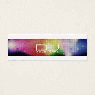 Cartão De Visitas Mini Olhar moderno DJ do estilo do clube nocturno