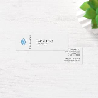Cartão De Visitas Mini Olho-Engodo azul do estilo da tipografia