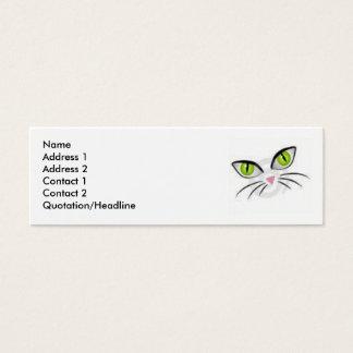 Cartão De Visitas Mini Olhos de gato