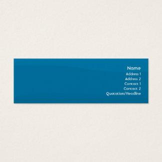 Cartão De Visitas Mini Onda azul - magro