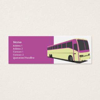 Cartão De Visitas Mini Ônibus roxo - magro
