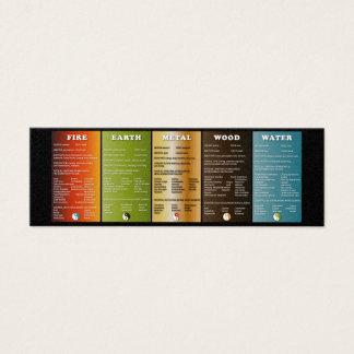 Cartão De Visitas Mini Os cinco elementos