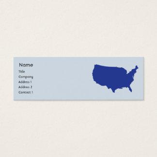 Cartão De Visitas Mini Os Estados Unidos da América - magros