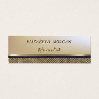 Cartão De Visitas Mini Ouro à moda elegante do falso, Sequins cintilantes