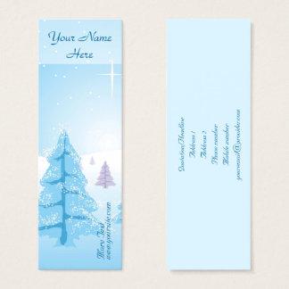 Cartão De Visitas Mini Paisagem do Natal