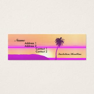 Cartão De Visitas Mini Palma da manhã - magro