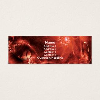 Cartão De Visitas Mini paperships vermelhos