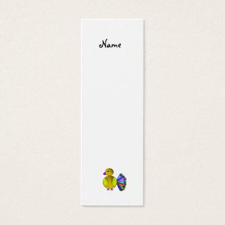 Cartão De Visitas Mini Pavão amarelo do arco-íris