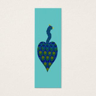 Cartão De Visitas Mini Pavão, mini marcador