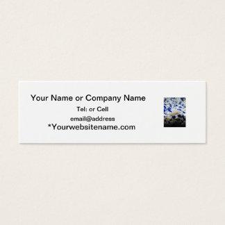 Cartão De Visitas Mini Peixes seixos e do gato azuis e brancos do albino
