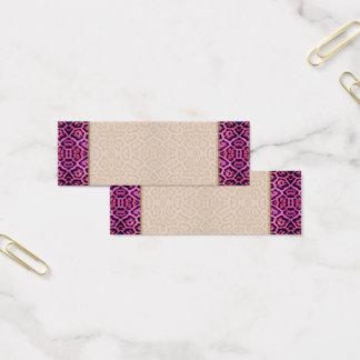 Cartão De Visitas Mini Pele de Jaguar no rosa e no roxo
