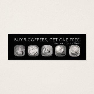 Cartão De Visitas Mini perfurador dos gramas do café