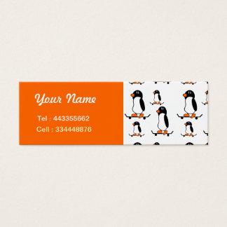 Cartão De Visitas Mini Pinguins Skateboarding