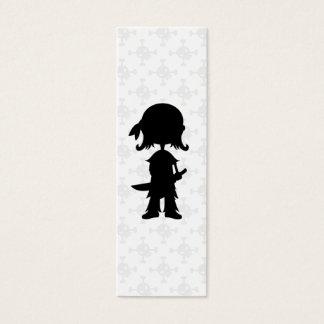 Cartão De Visitas Mini Pirata no marcador da silhueta
