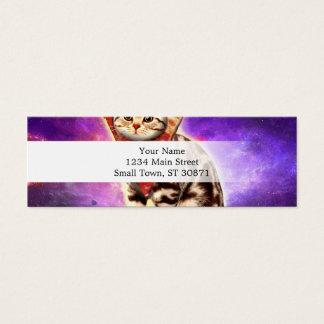 Cartão De Visitas Mini Pizza do gato - espaço do gato - memes do gato